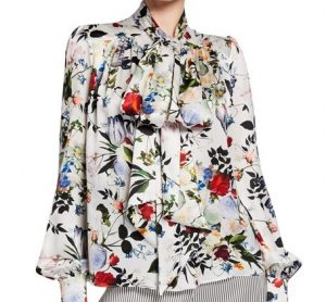Naeem Khan beaded and mirrored daisies blouse