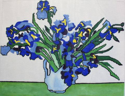 Hand Painted Van Gogh Irises Canvas