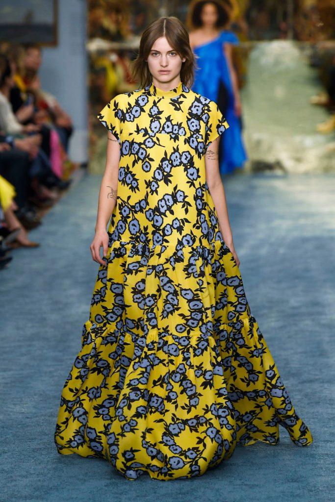 Carolina Herrera yellow floral dress