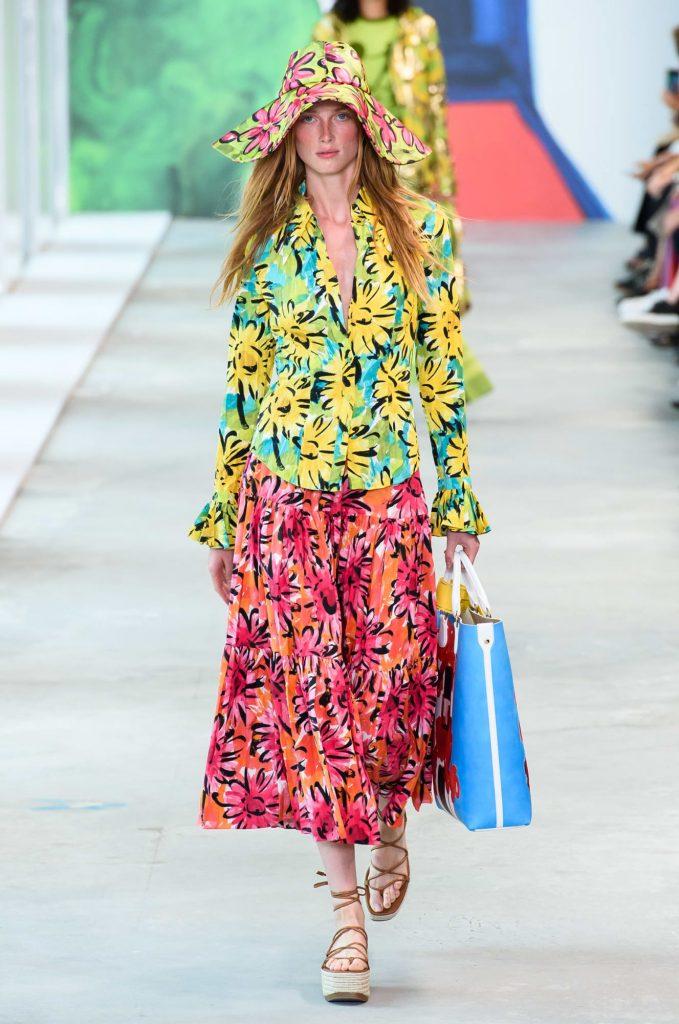 Carolina Herrera big bold floral dress