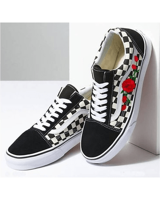 Vans Sneakers With Flowers