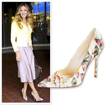 Sarah Jessica Parker Floral Themed Manolo