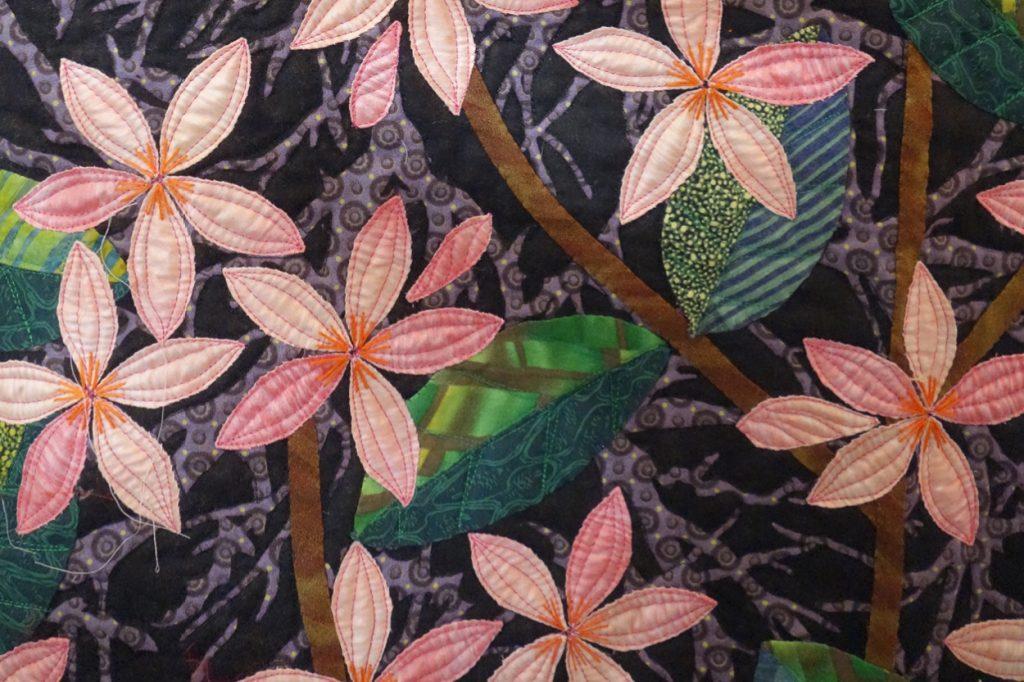 Plumeria Detail 2017 Tokyo Festival of Quilts