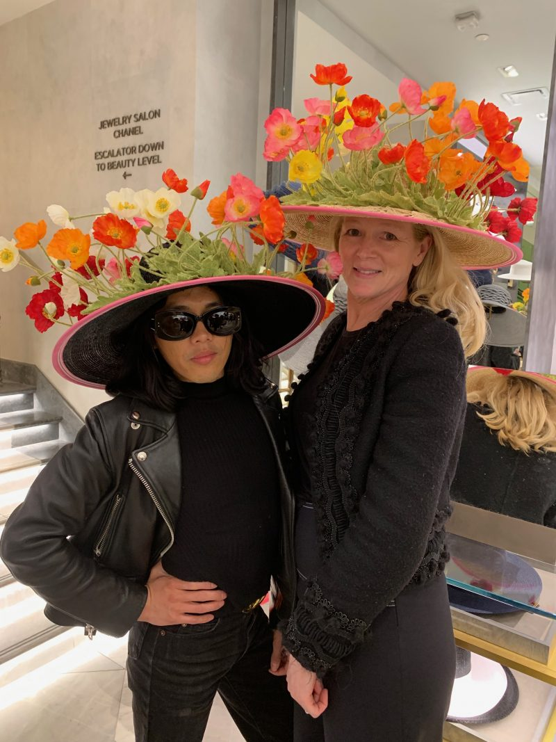 Two Women With Floral Hats