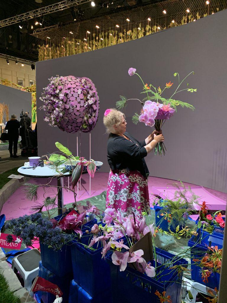 Finland's Pirjo Koppi Philadelphia Flower Show