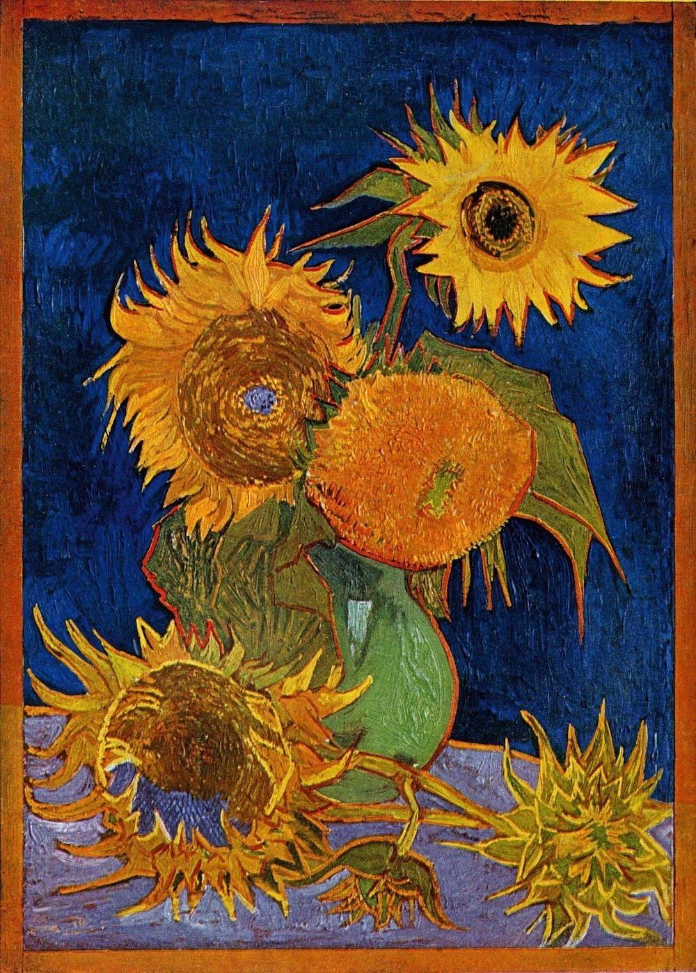 Van Gogh Six Sunflowers Painted In 1888