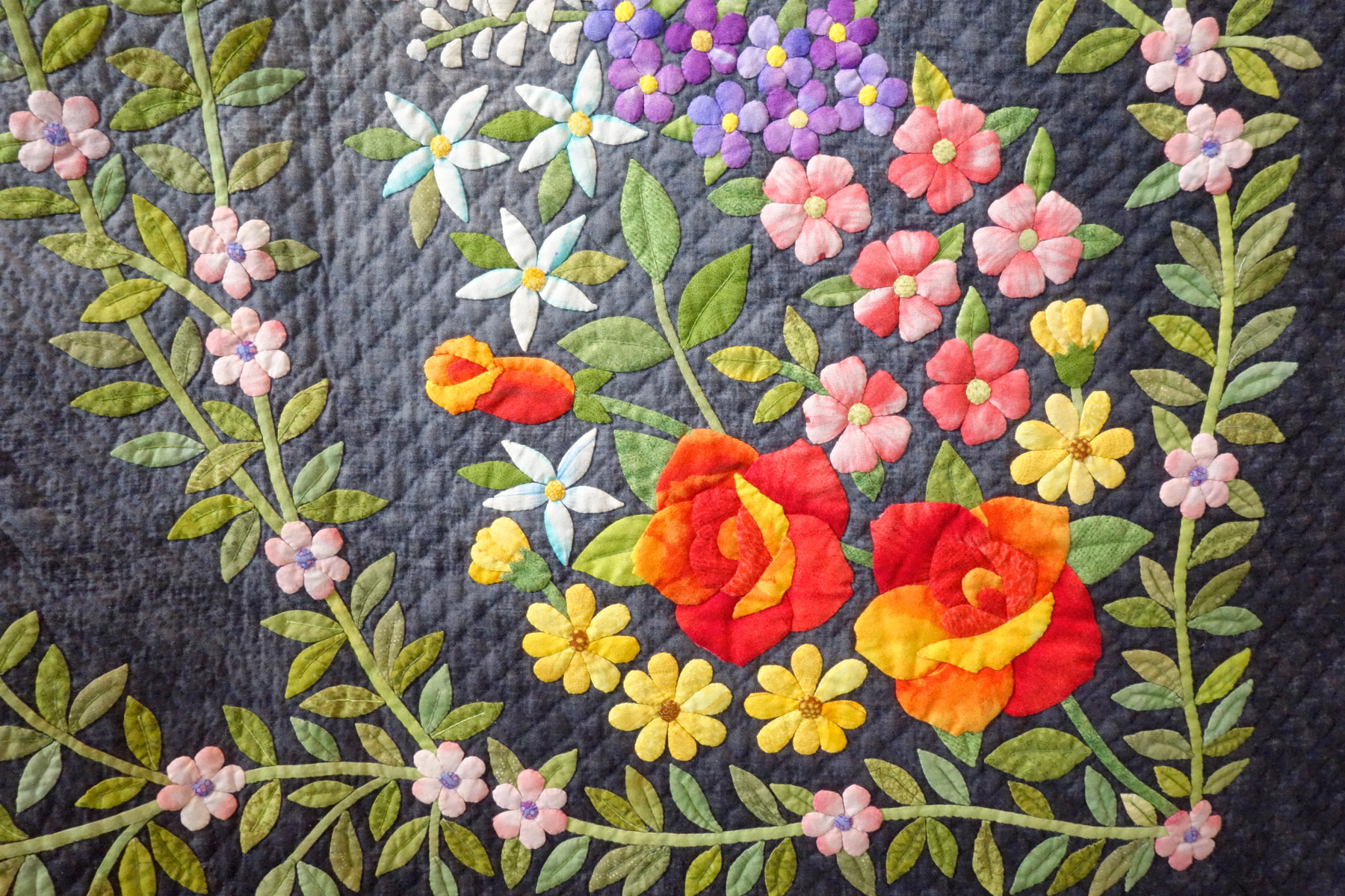 Details of a Japanese quilts