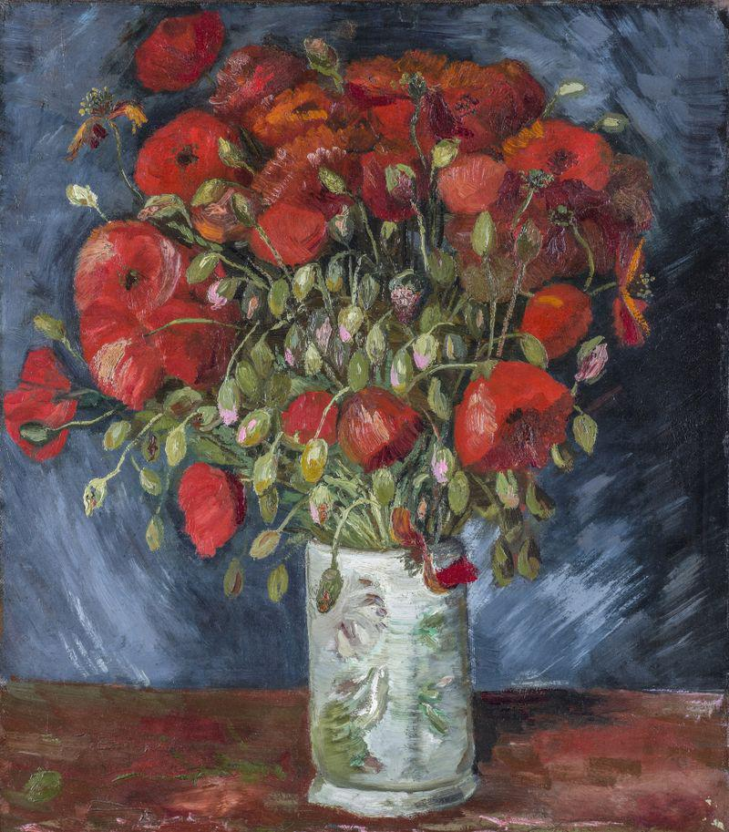 "The Van Gogh painting, ""Vase with Poppies"""