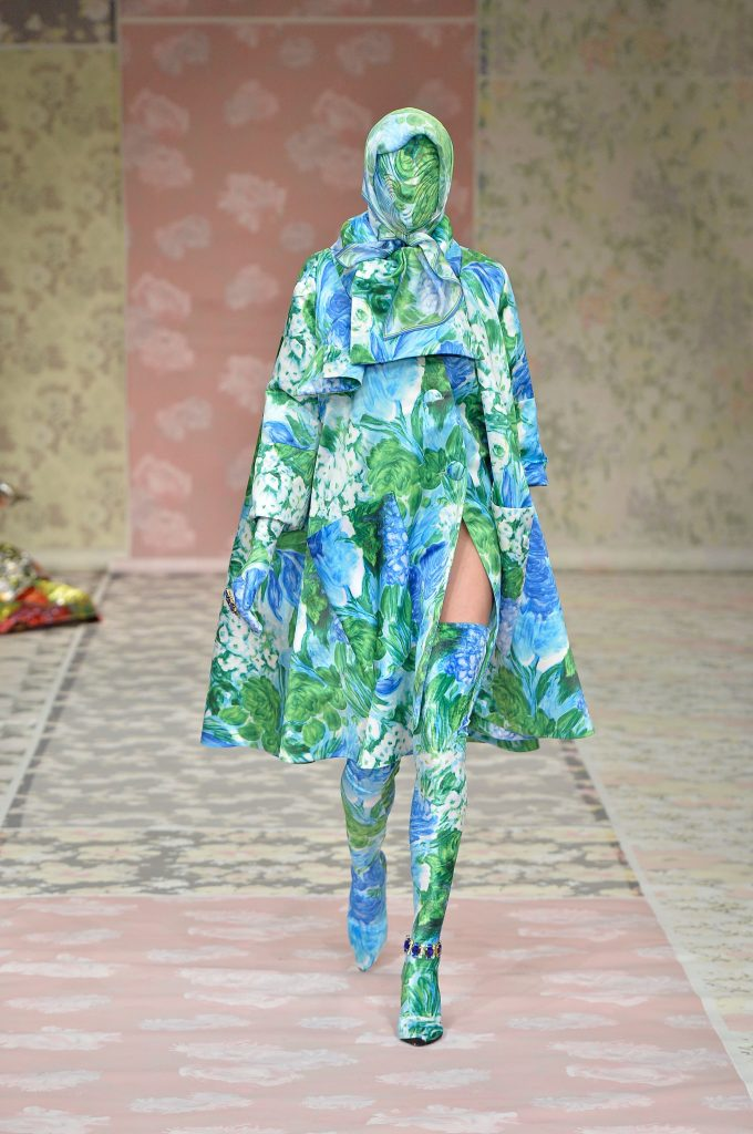 Richard Quinn's Green Purple Floral Dress