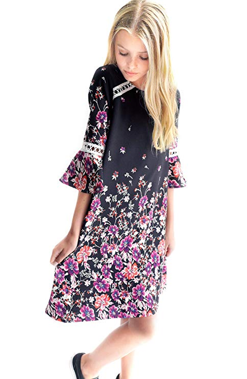Big Girls Floral Printed Dress