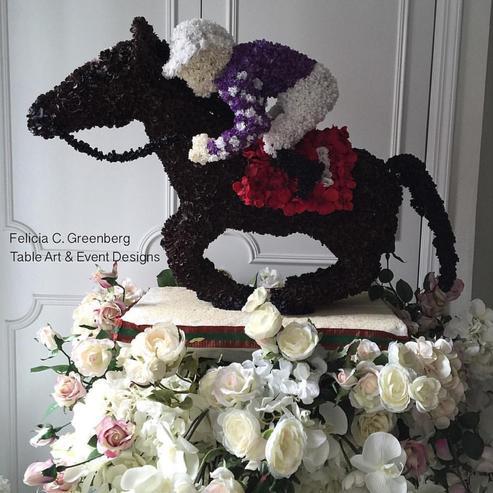 Felicia Greenberg's Horse Floral Displays