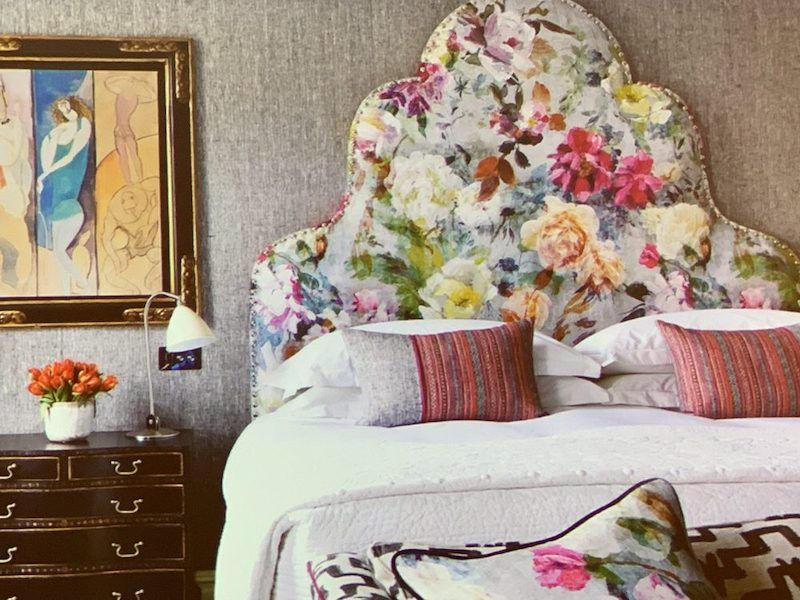 A Floral Headboard By Kit Kemp