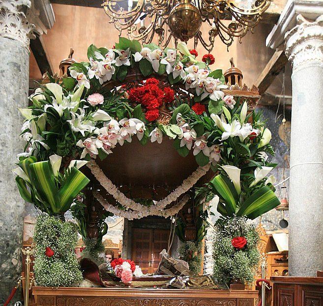 Flower Arrangement Greek Orthodox Church