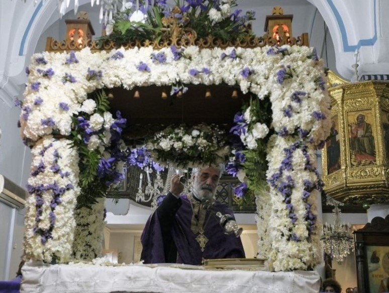 Flowers Decorate An Eastern Orthodox Tomb