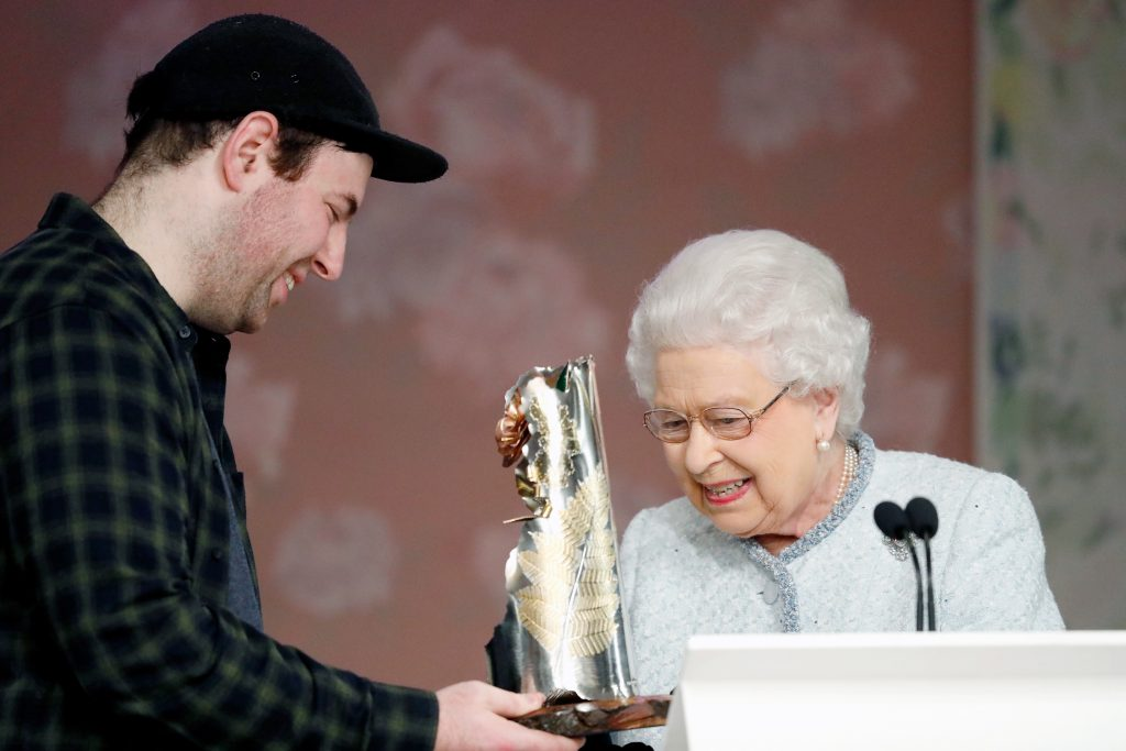 Designer Richard Quinn With Queen Elizabeth