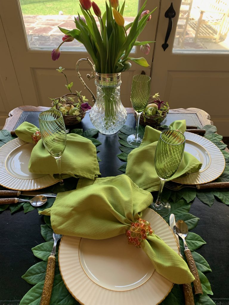 Splash of Green Spring and Summer Table Setting