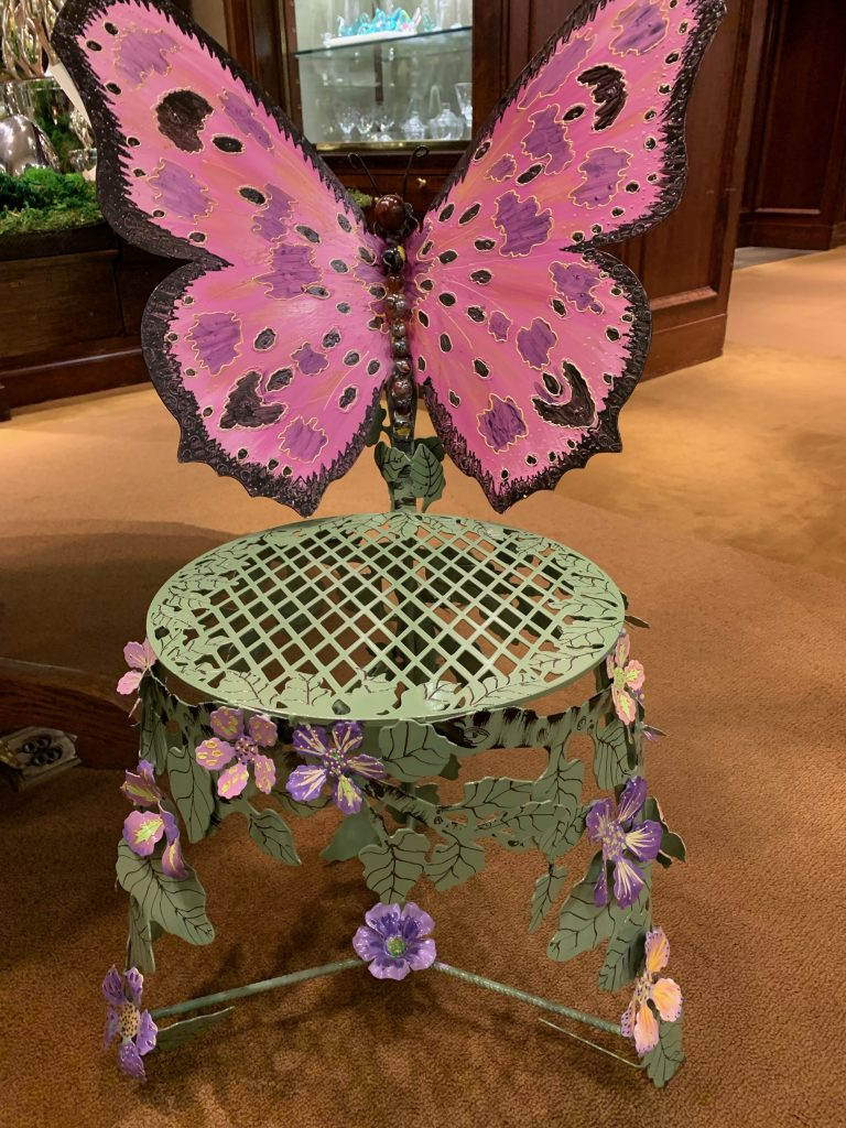 Butterfly Floral Chair