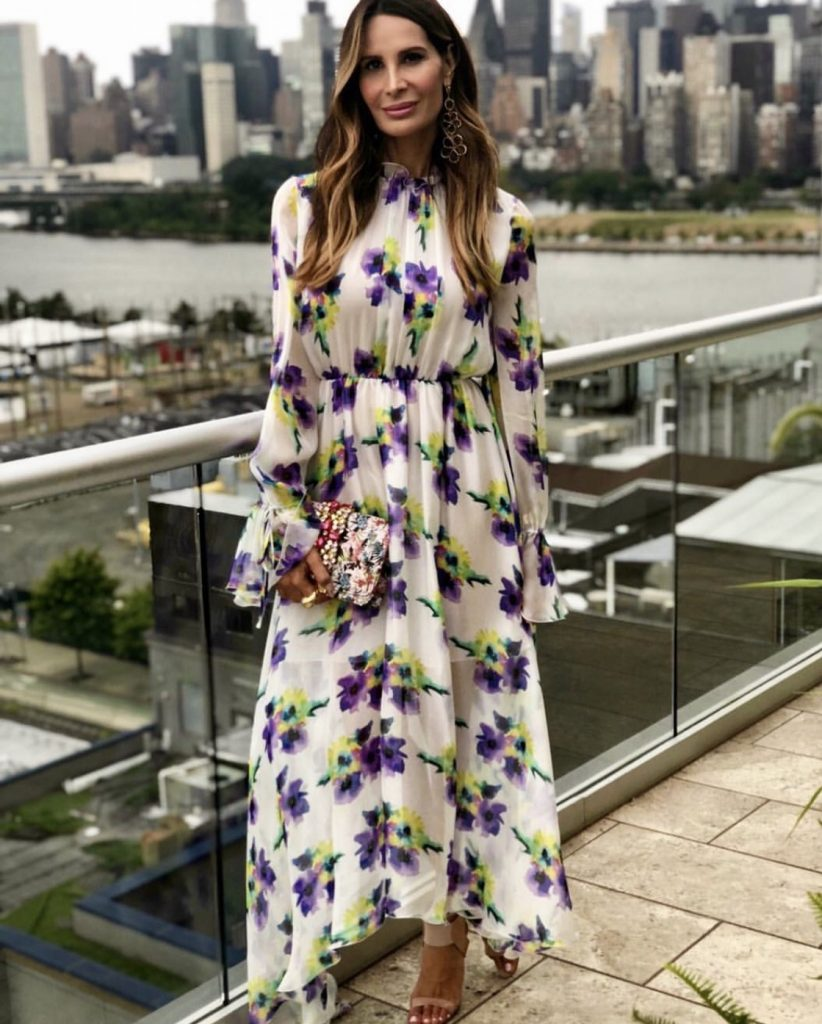 Stylist Gayle Perry In Floral Dress