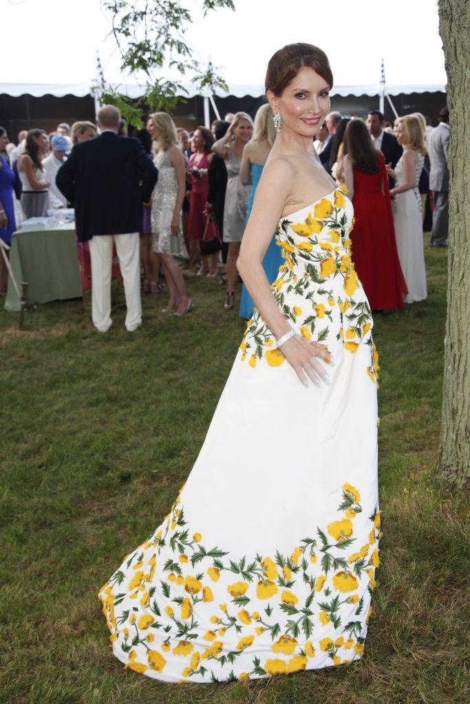 Jean Shafiroff Yellow Floral Summer Dress