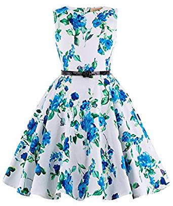 Kate Kasin Girls Sleeveless Dress