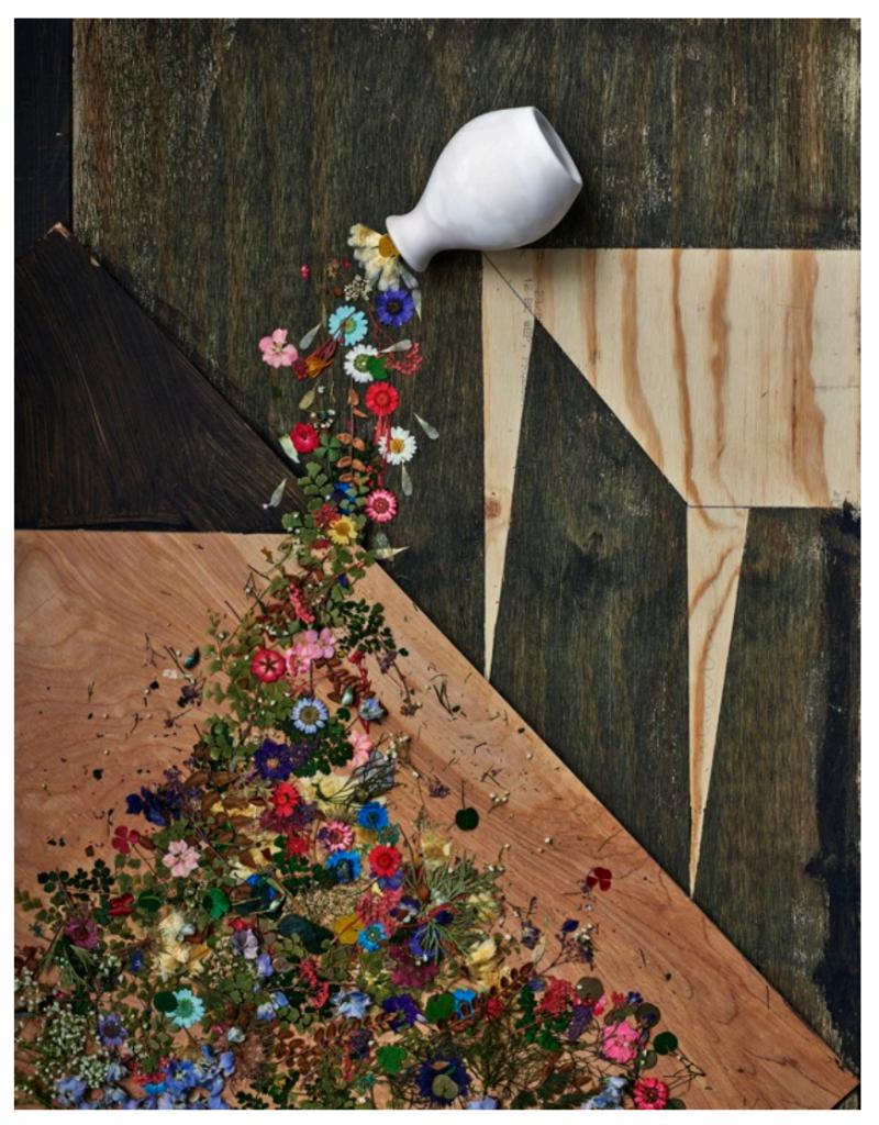 Abelardo Morell painting with flowers