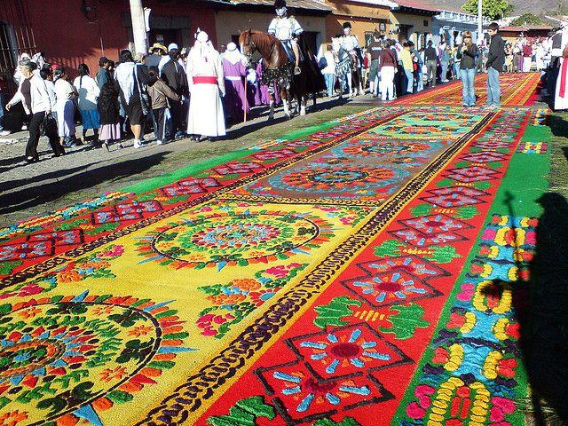 A Complete Guatemalan Floral Carpet