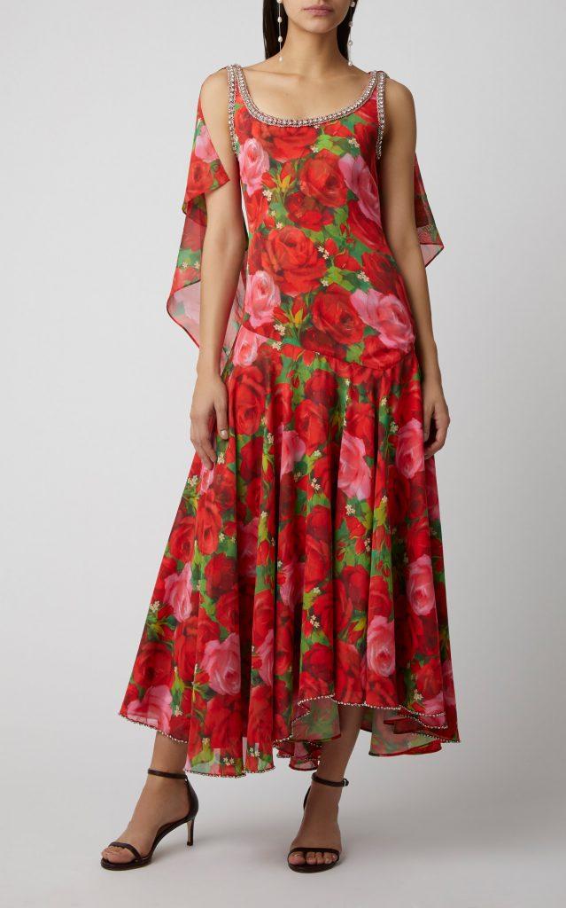 Richard Quinn's Red Floral Dress