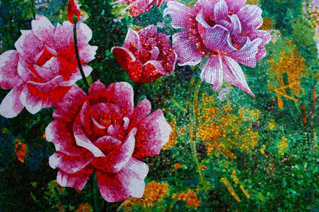 Beautiful Mosaic Of Roses