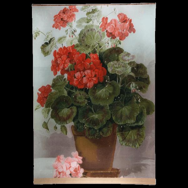 A Floral Geranium tray Decoupage