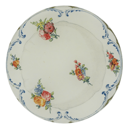 A Floral Butter dish Decoupage