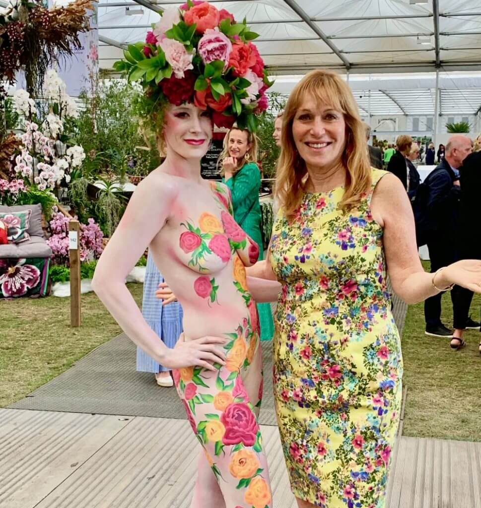 Jill Booke At The Chelsea Flower Show 2019