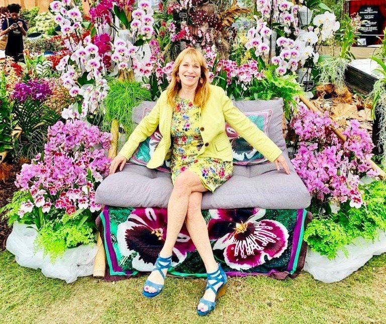 Jill Brooke At Chelsea Flower Show