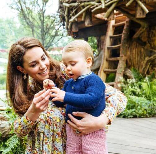 The Duchess of Cambridge and Prince Louis
