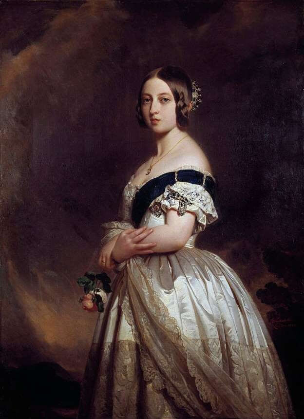 Queen Victoria Portrait By Franz Xaver Winterhalter