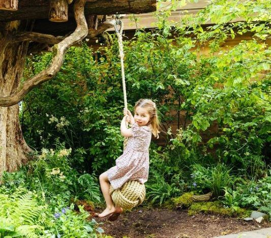 Princess Charlotte Tries The Swing
