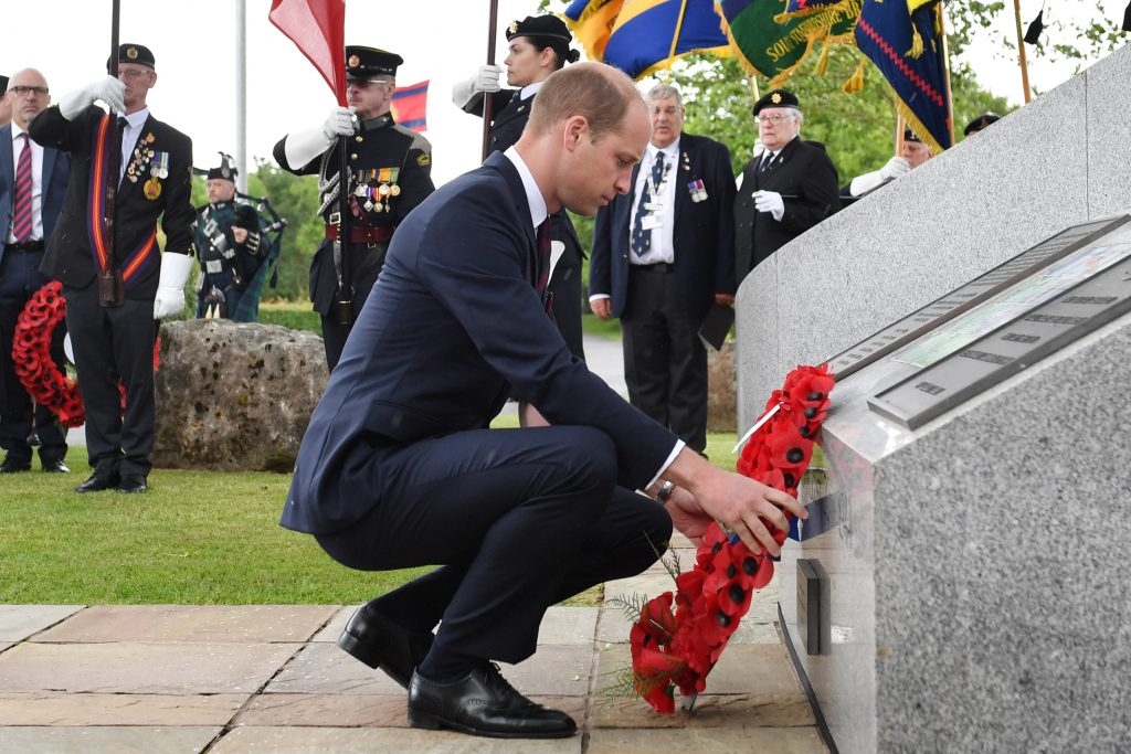 Britain's Prince William Lays A Wreath