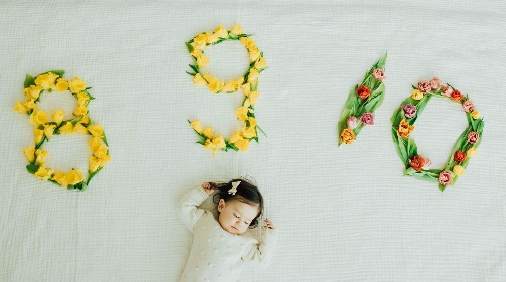 Vanessa Khachane's daughter With Flowers