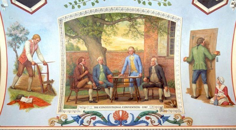 Capitol building Mural of Benjamin Franklin's garden