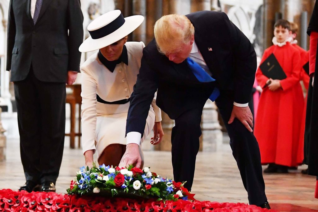 Donald And Melania Trump Flowered Wreath