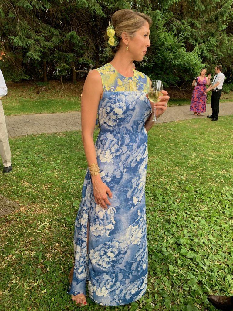 A Beautiful Floral Blue Dress