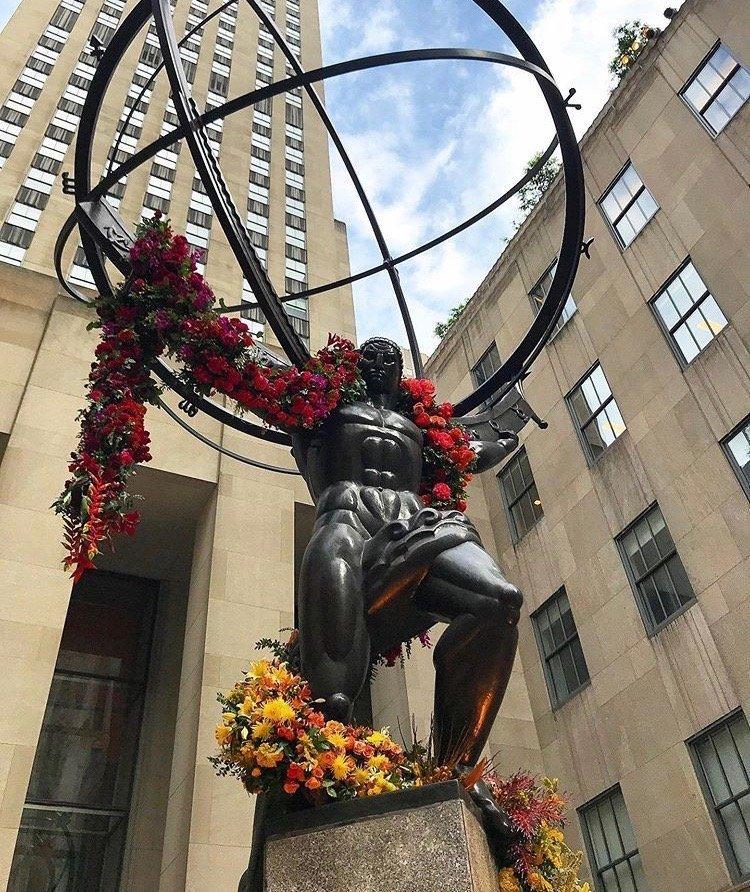Rockefeller Plaza Lewis Miller installation
