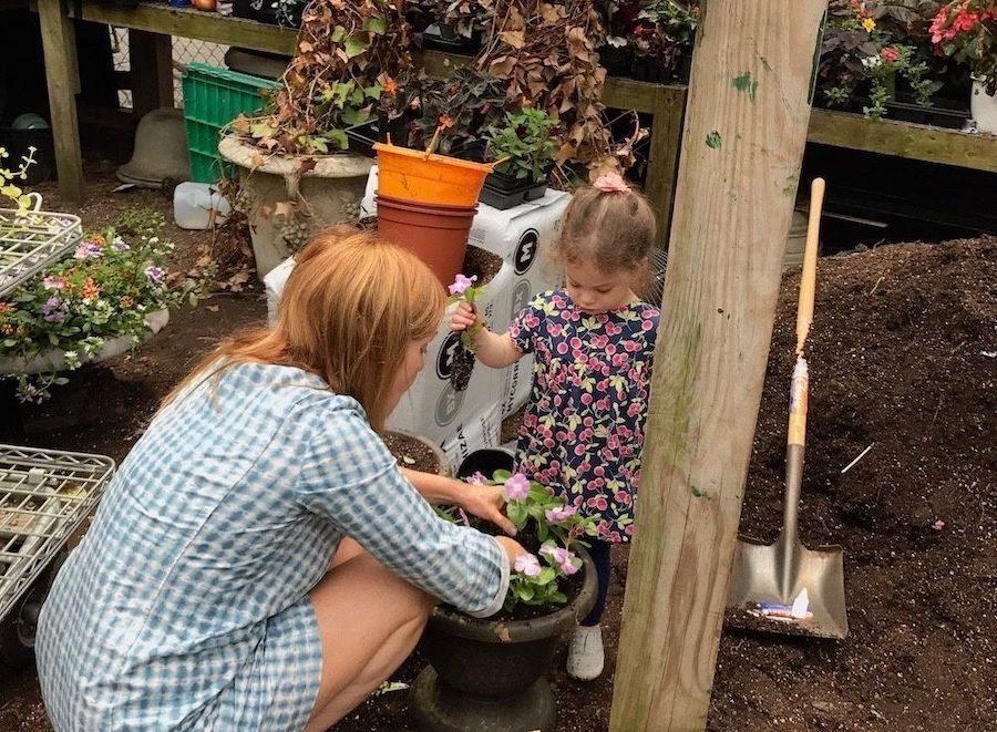 Jill Brooke Gardening With Girl