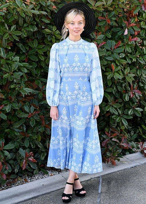 Nell Hudson's blue dress