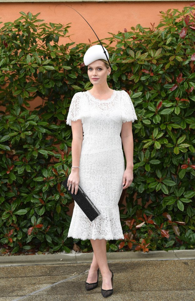 Lady Kitty Spencer Wears Lace Dress