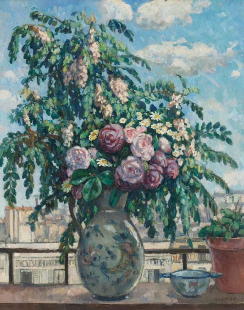 Albert André Floral Arrangment Painting