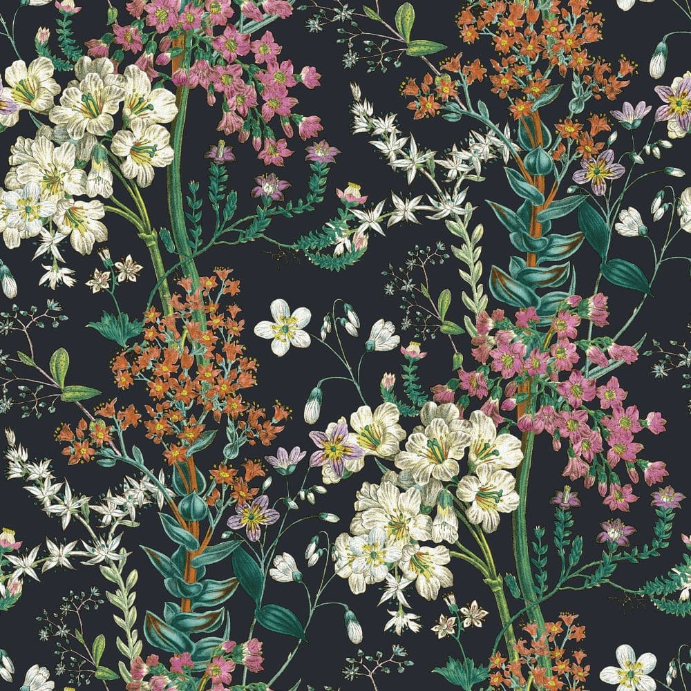 Beautiful Floral Wallpaper Brown Background