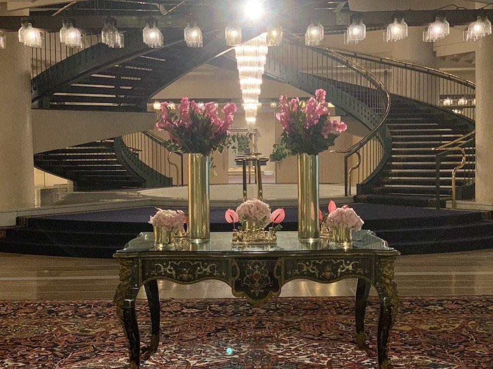 The Roma Cavalieri Hotel Lobby Flowers