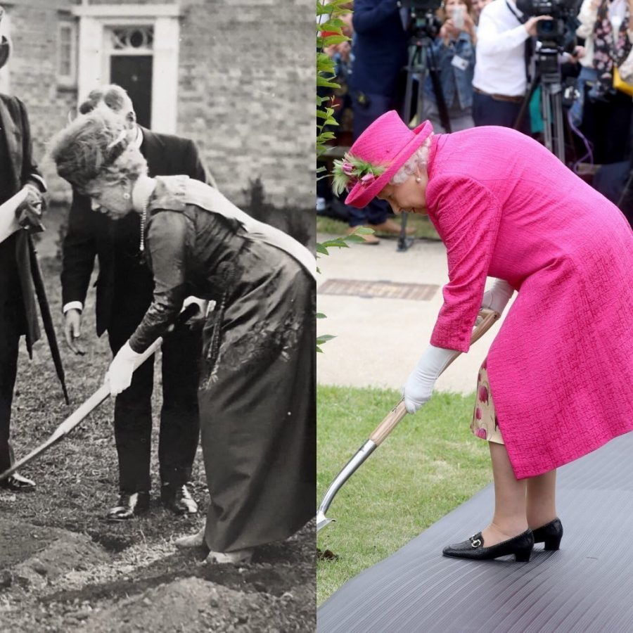 Queen Elizabeths Planting a Tree