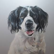 Painting Dog Portrait Sara Abbott