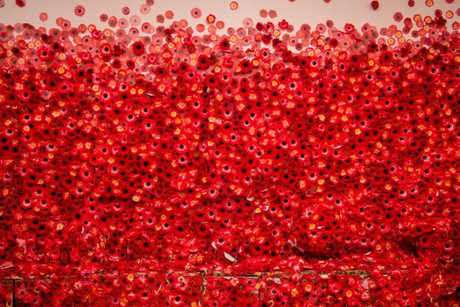 Yayoi Kusama Red Flowers
